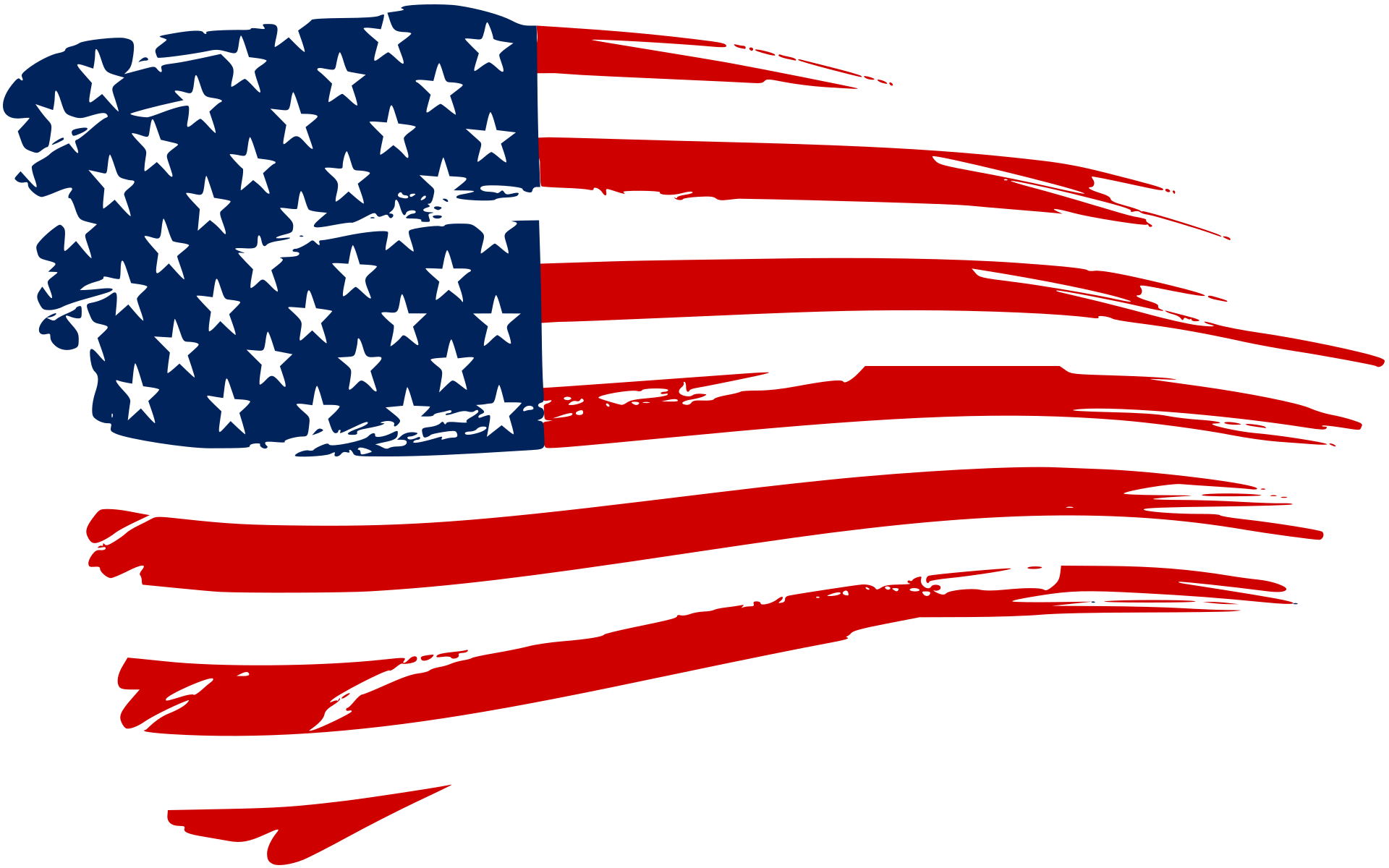 American flag flaming.