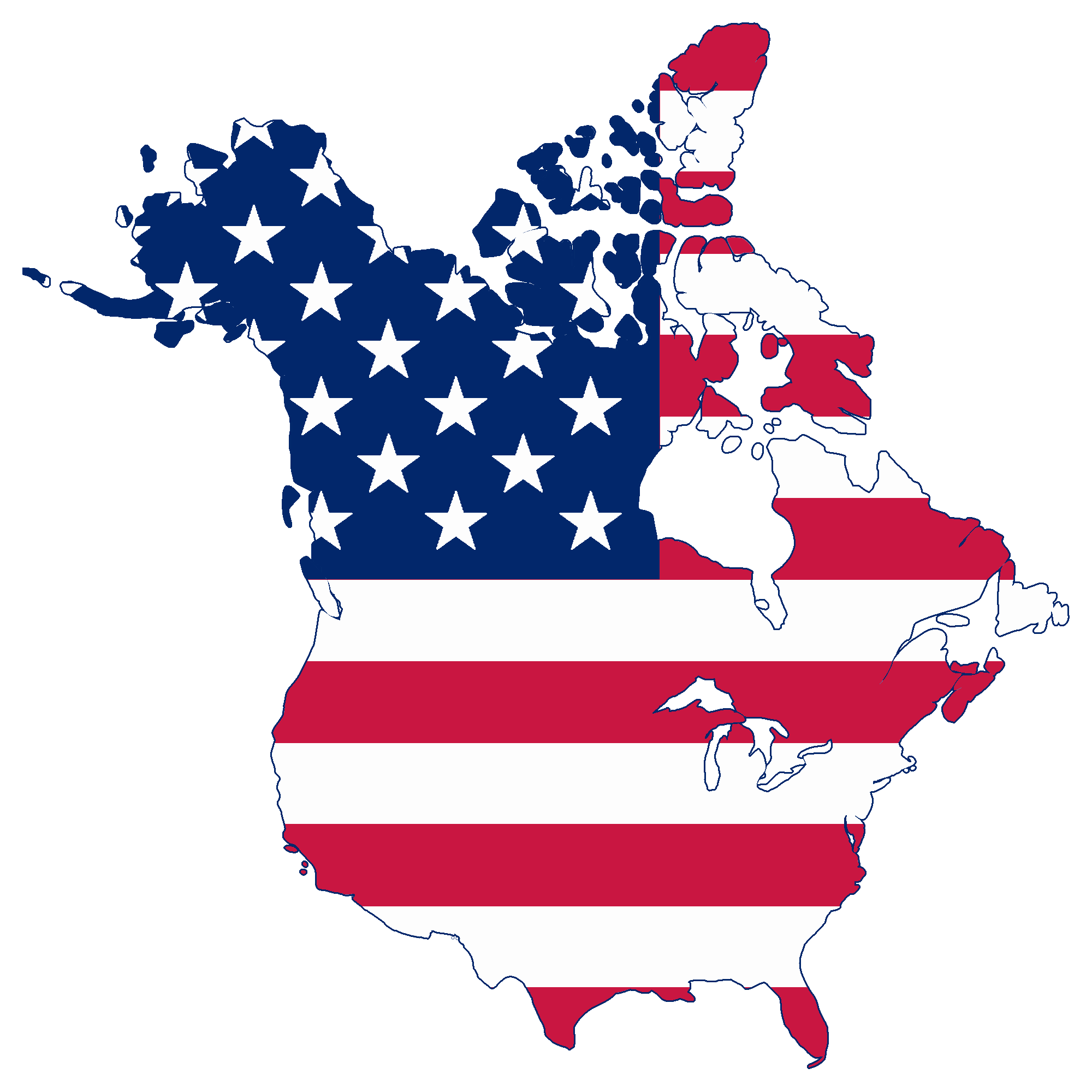 File:Flag map of Canada and United States (American Flag).png.