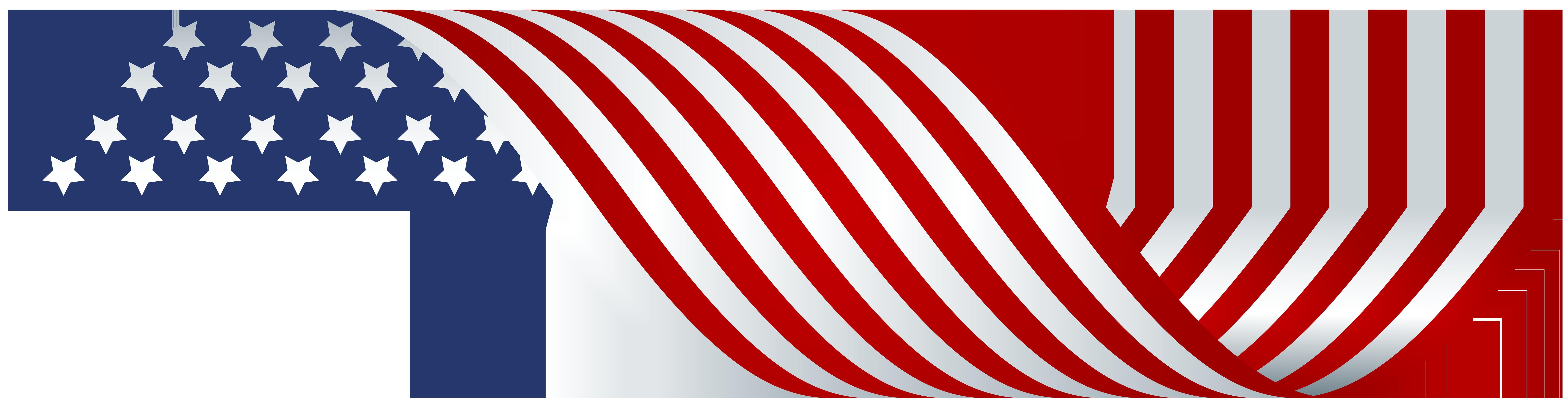 American Flag Decor PNG Clip Art.