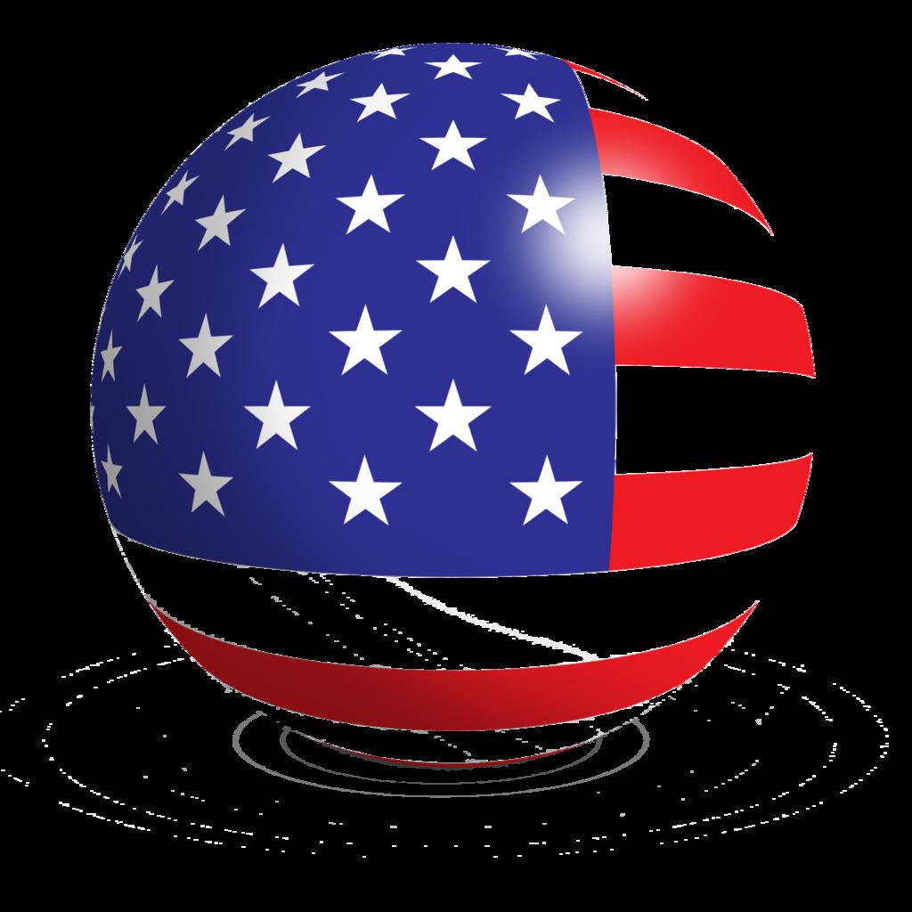 Icon American Us Flag Vector #8304.