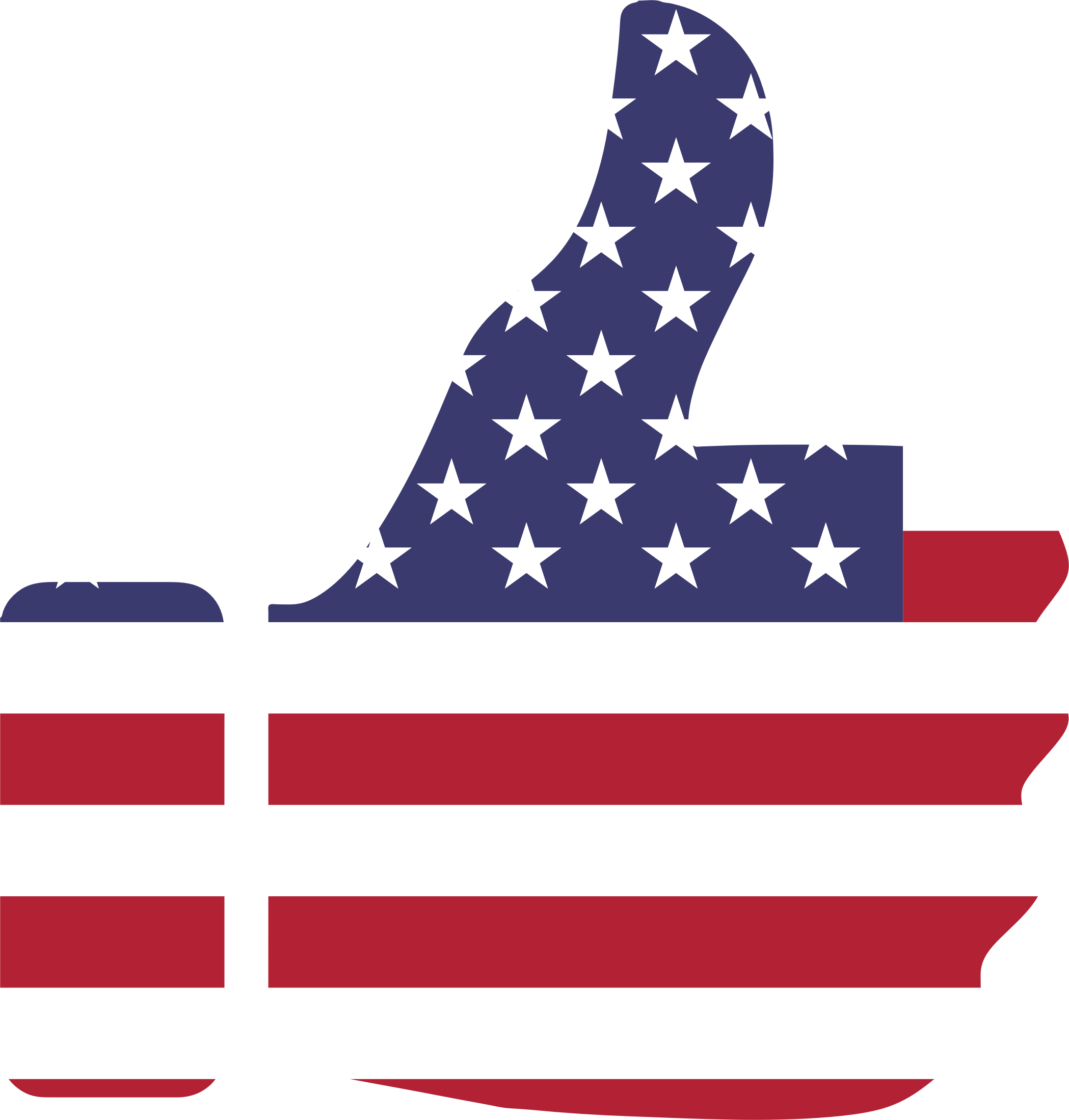 Thumb Up American Flag transparent PNG.
