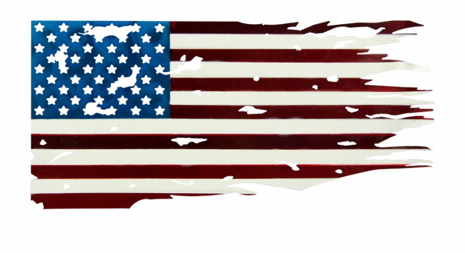 American Flag License Plate.