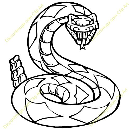 Clipart 13228 rattlesnake.