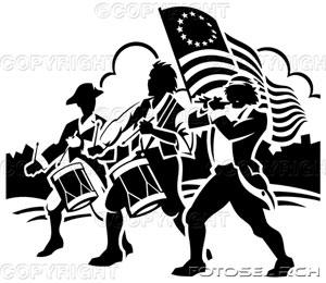Revolutionary War Kids Clip Art Black And White