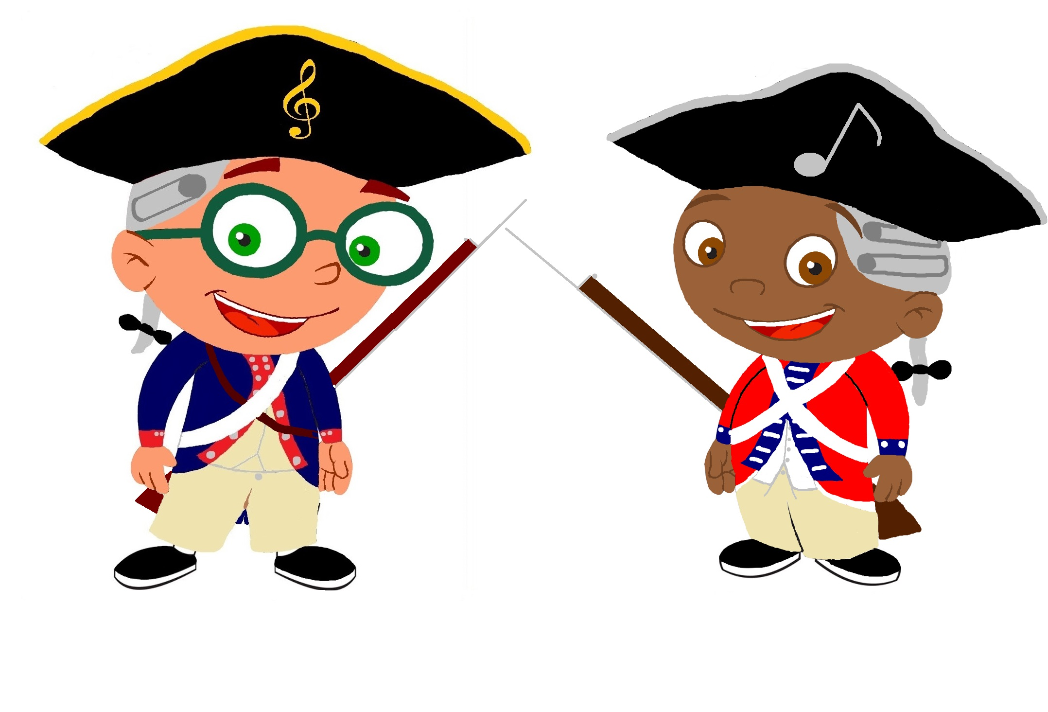 American revolution soldier clipart.