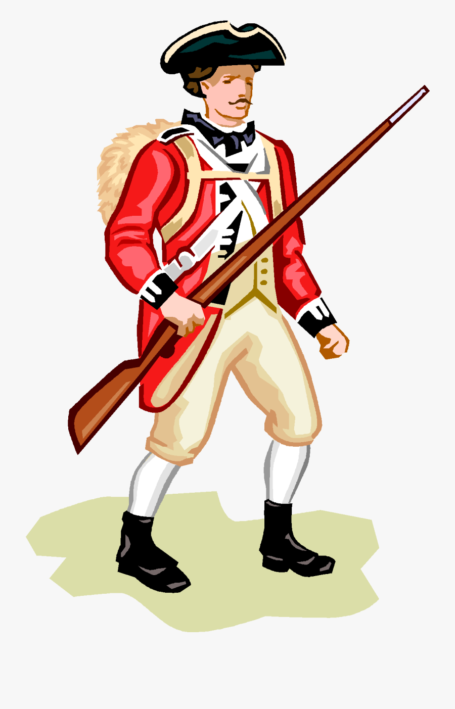 American Revolution Clipart Red Coat.