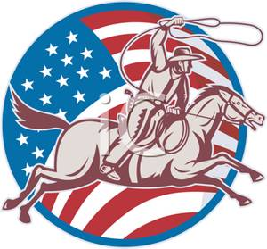 A Badge Depicting the American Rodeo Association.