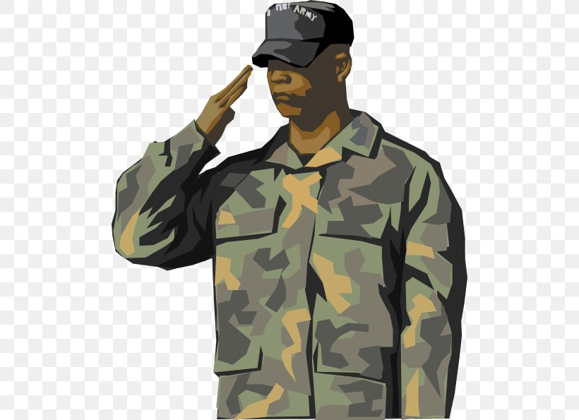 Soldier Salute Army Military Clip Art, PNG, 504x595px.