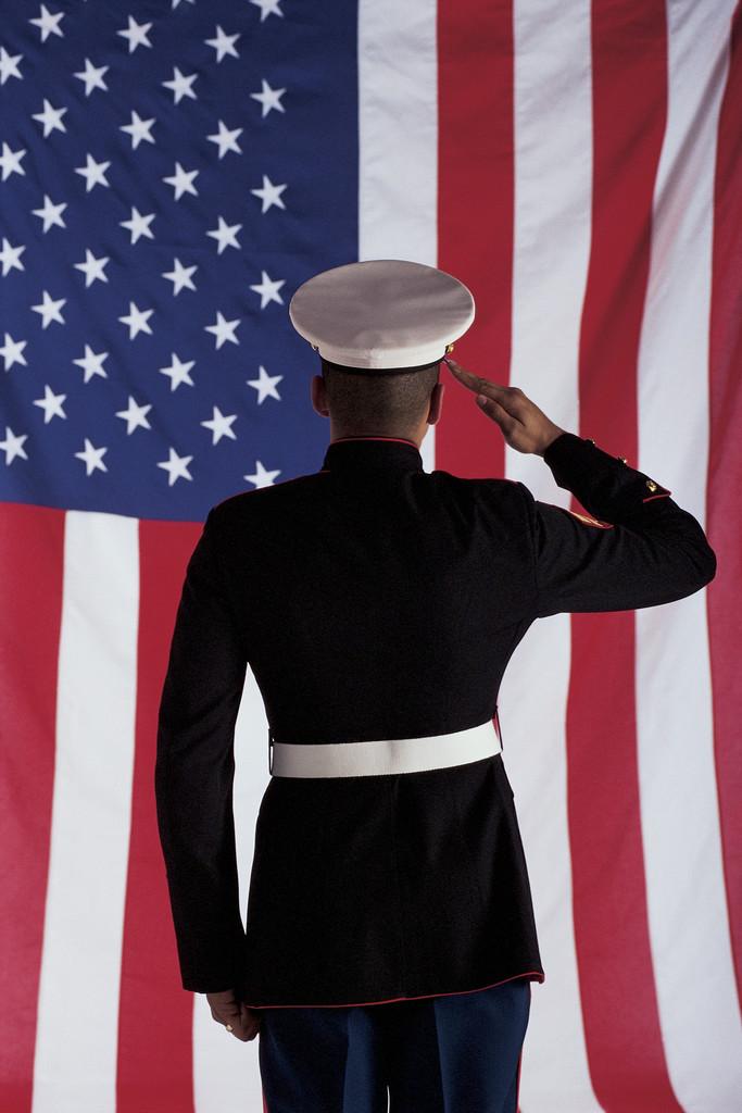 Veteran Salute Clipart.