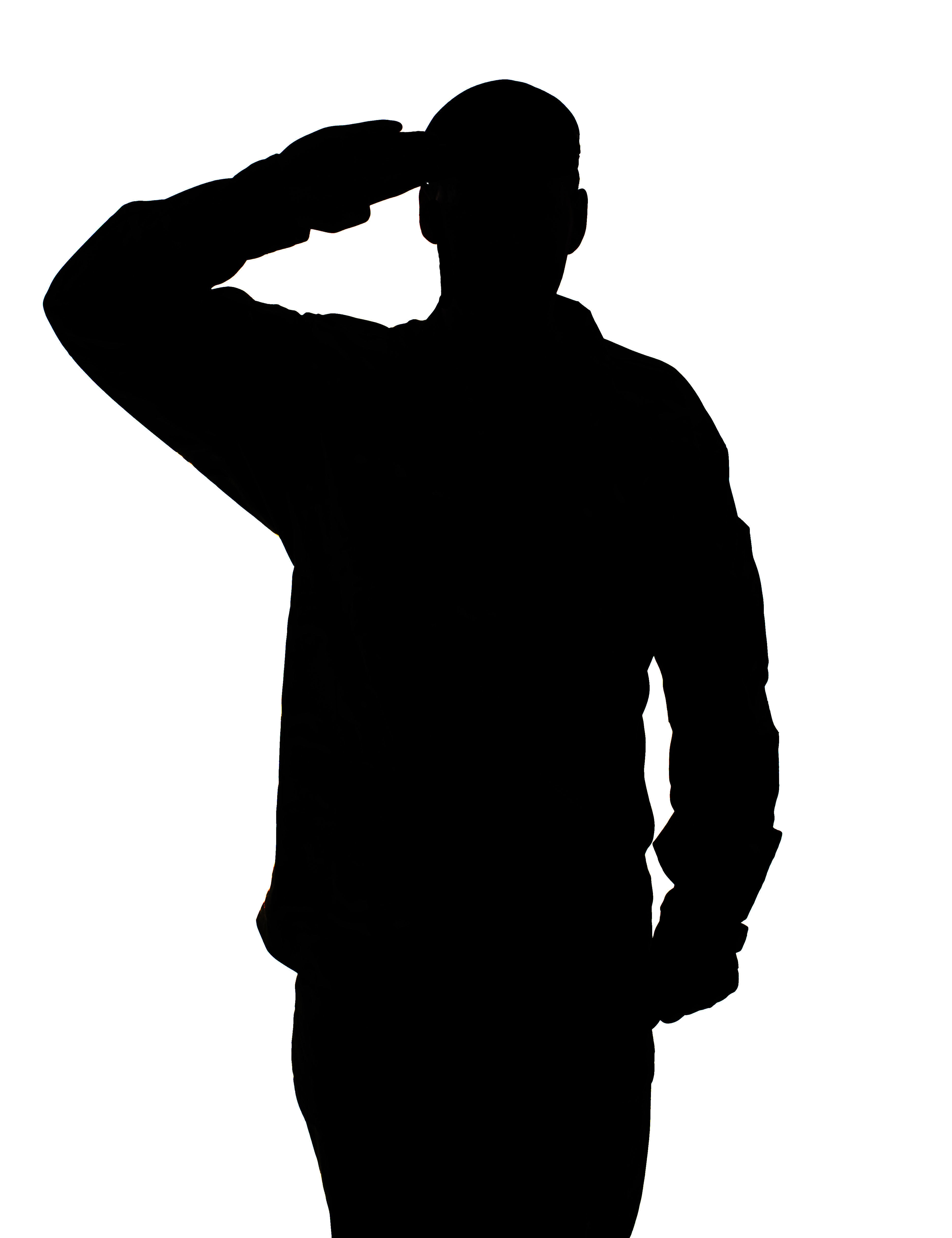 American Soldier Saluting Clipart.