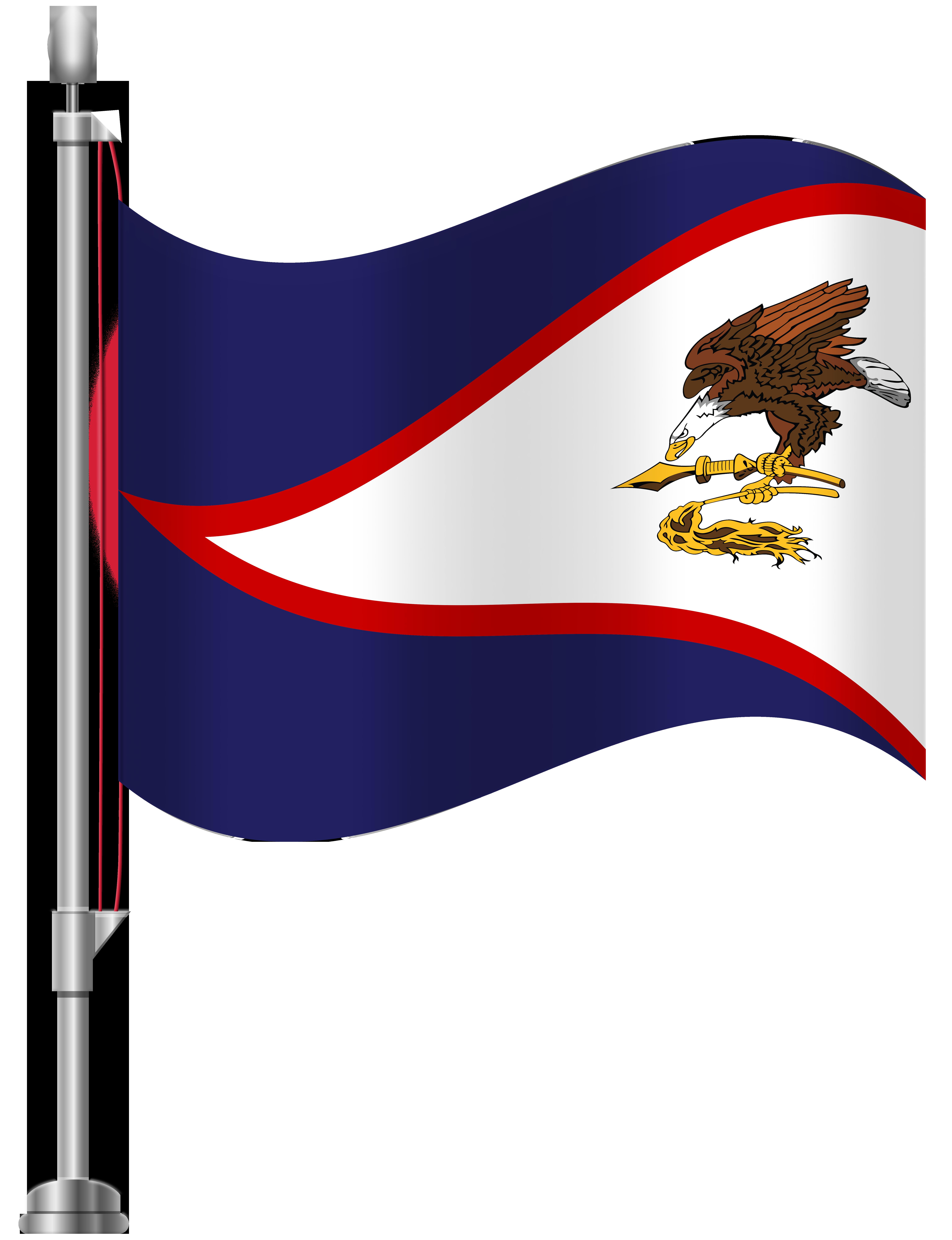 American Samoa Flag PNG Clip Art.