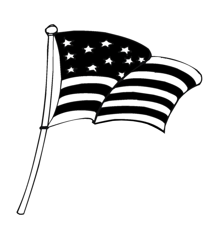America Clipart Black And White.