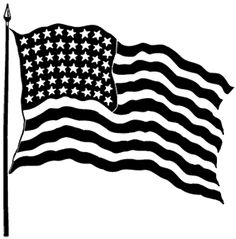 Black And White American Flag Clip Art.