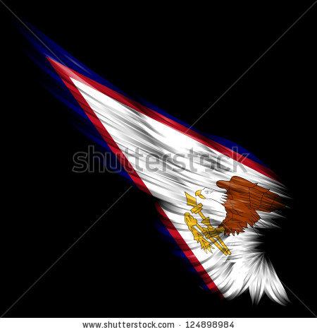 Flag Philippines On Wing Black Background Stock Illustration.