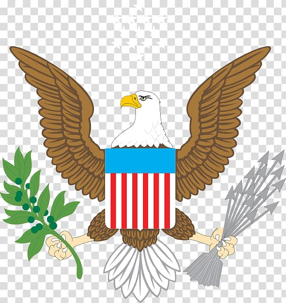 Great Seal Of The United States transparent background PNG.