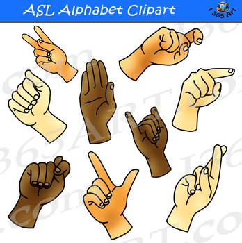 ASL Alphabet Clipart American Sign Language.