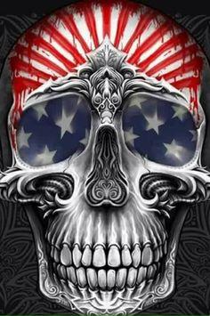 American Flag Skull.
