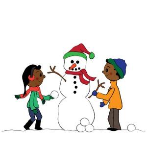 Building A Snowman Clipart.