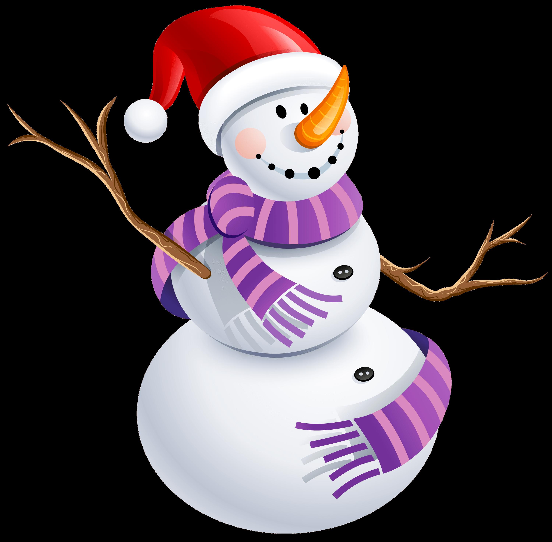 Transparent Snowman Clipart.
