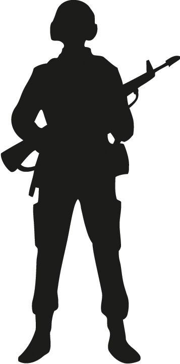 Soldier outline.