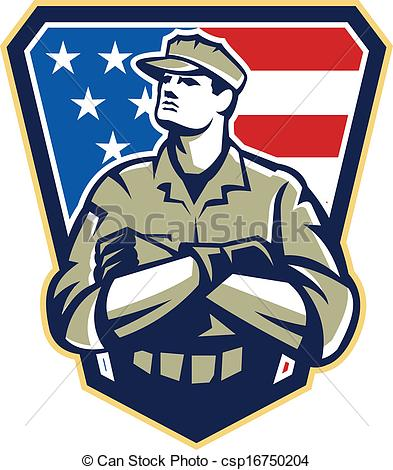 American Soldier Clipart.