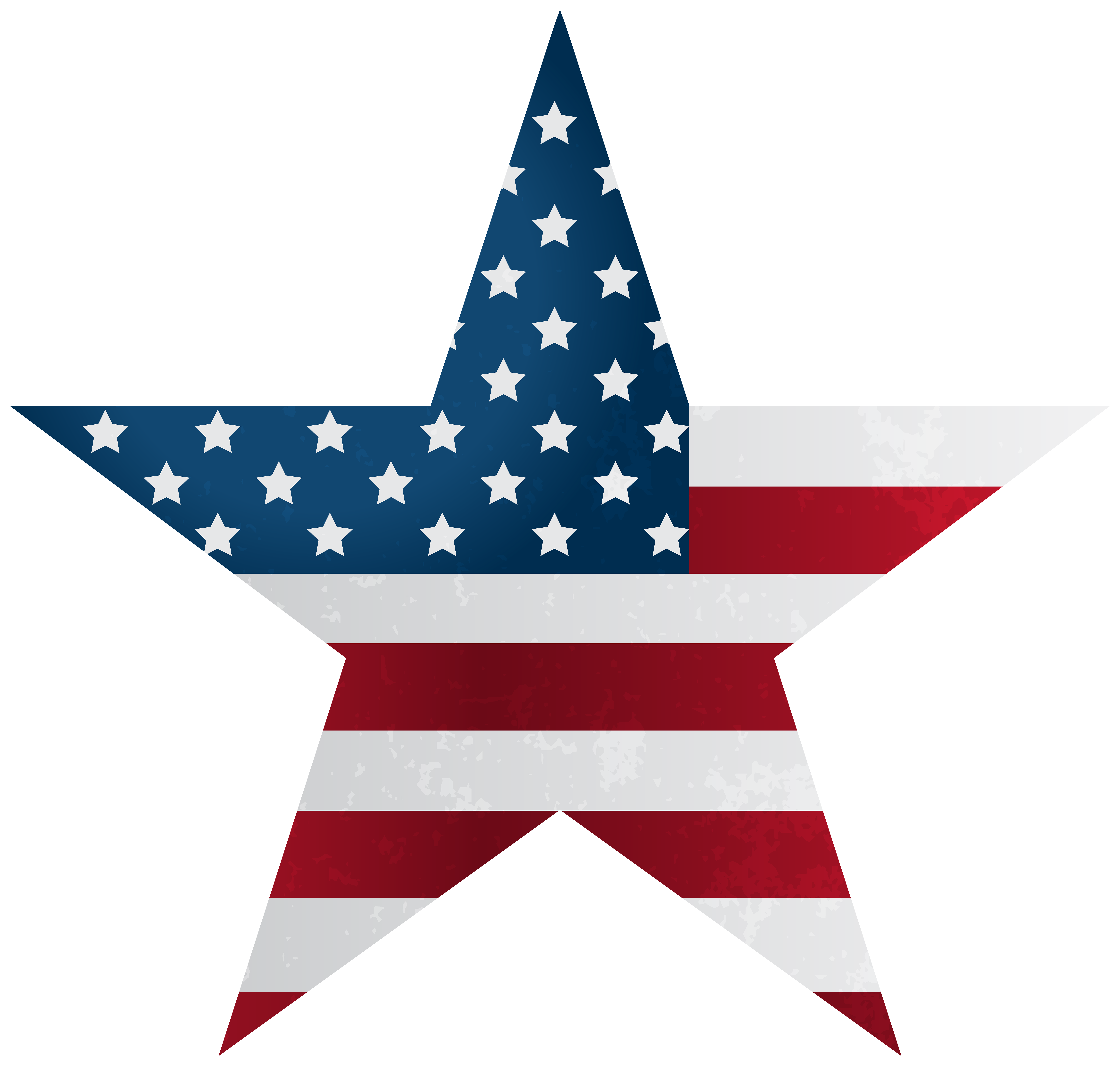 American Star PNG Clipart.