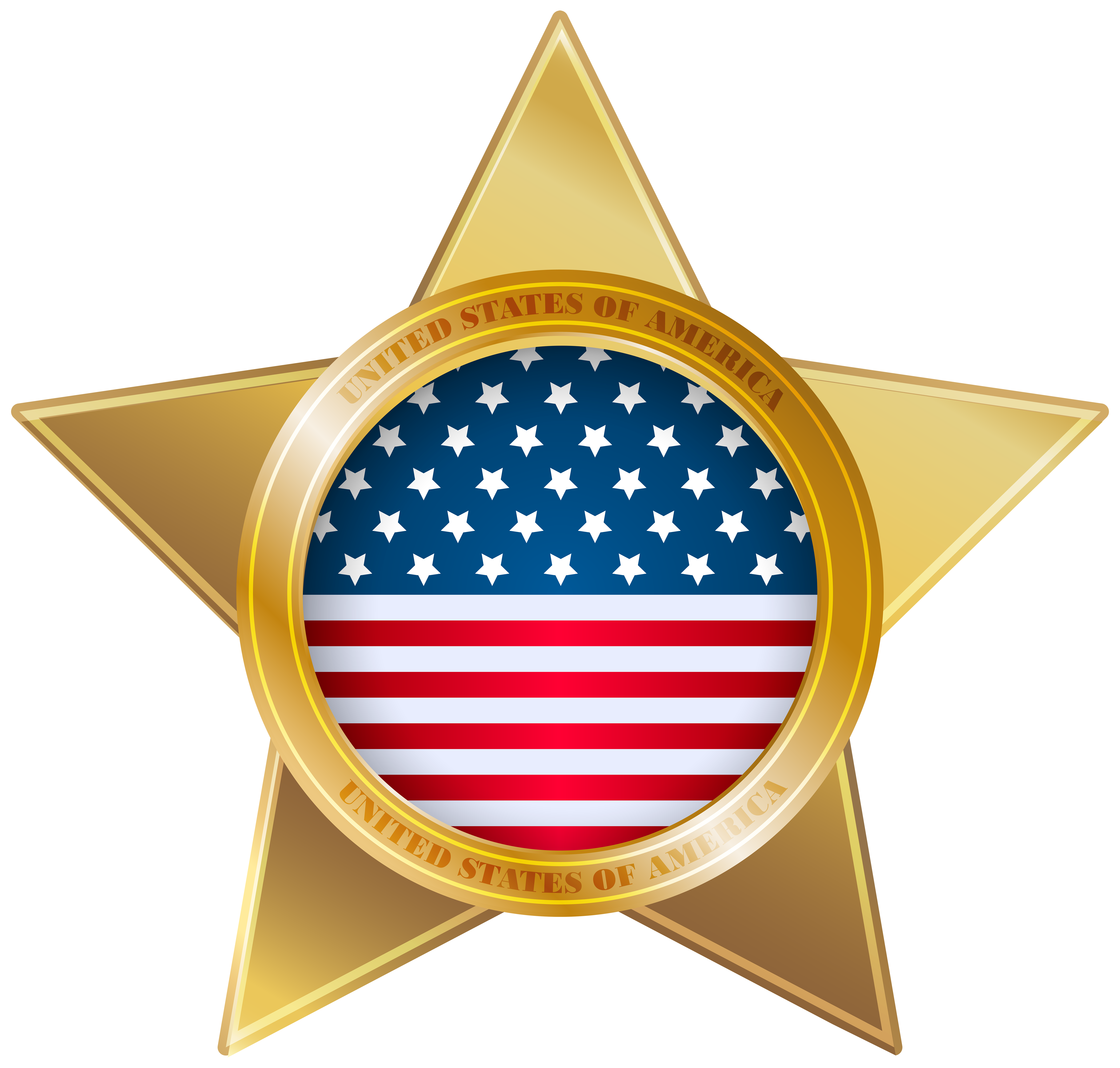 American Star PNG Clip Art Image.