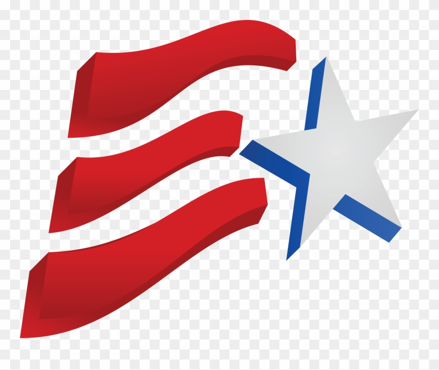 Free Clipart Of A Fourth Of July Star And American.