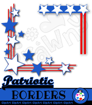 USA Page Border Clip Art.