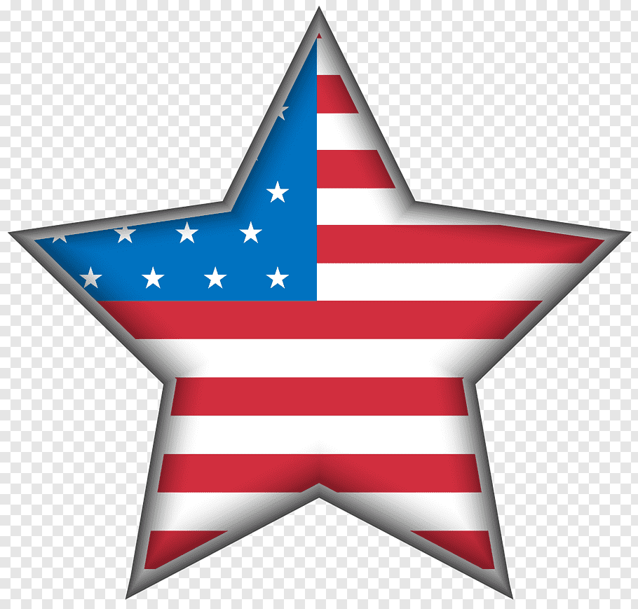 Flag of America star, United States Independence Day, USA.