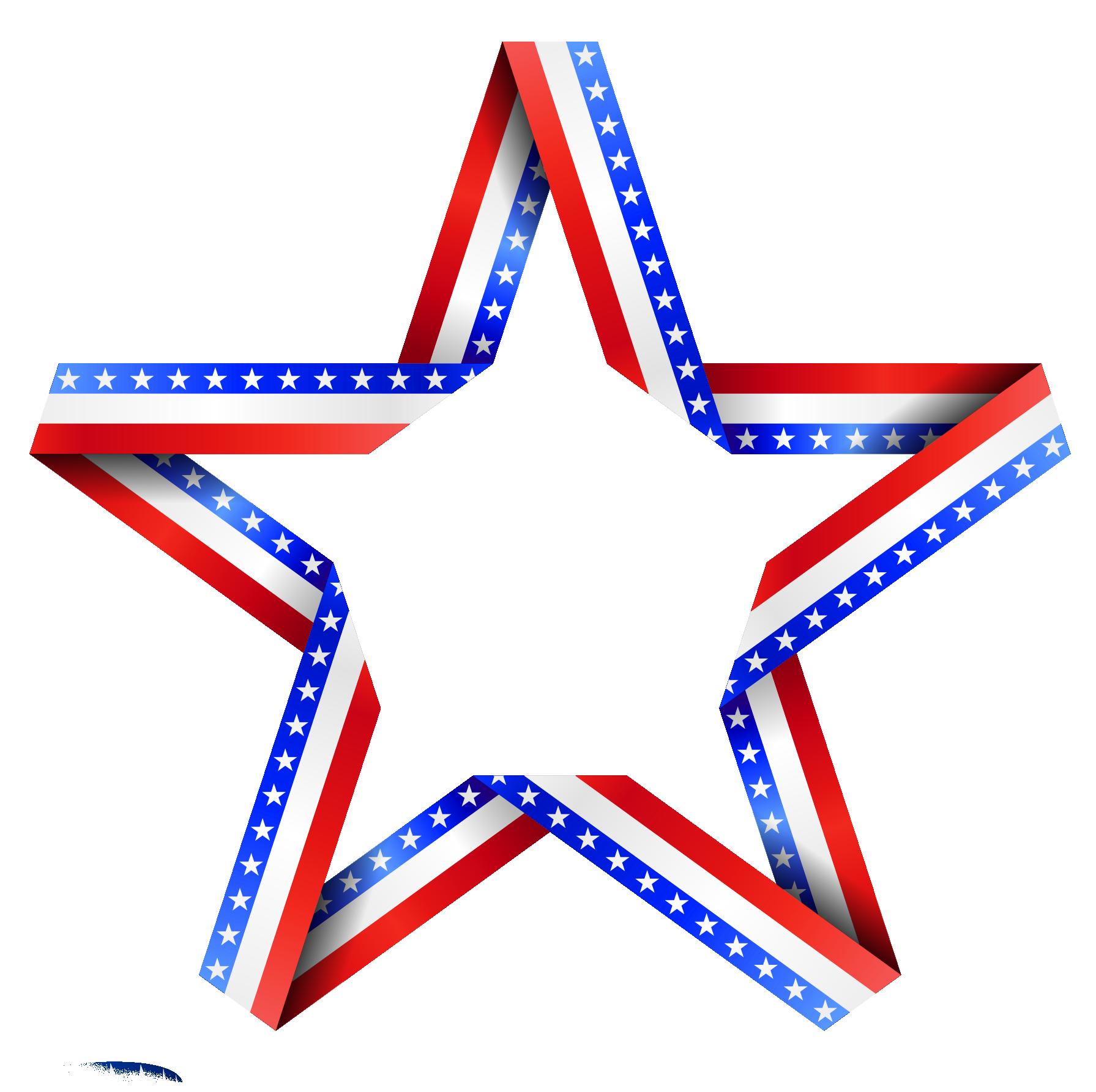 American Stars Clipart.
