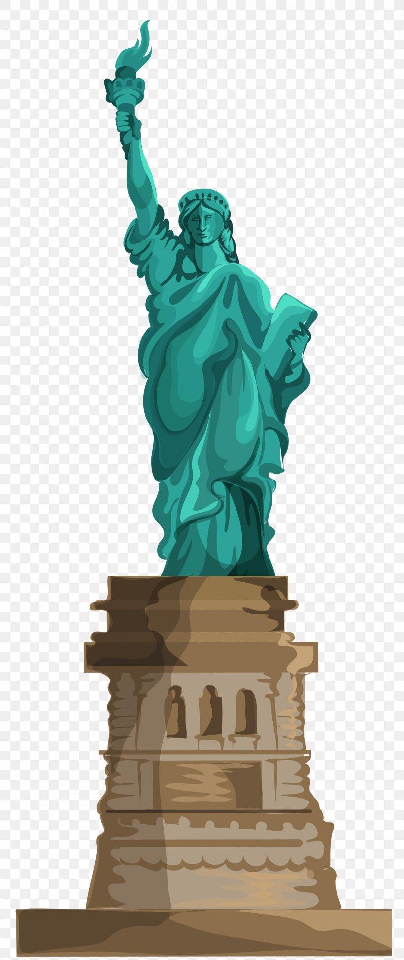 Statue Of Liberty Battery Park Ellis Island New York Harbor.