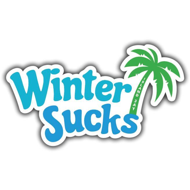 Winter Sucks Sticker.