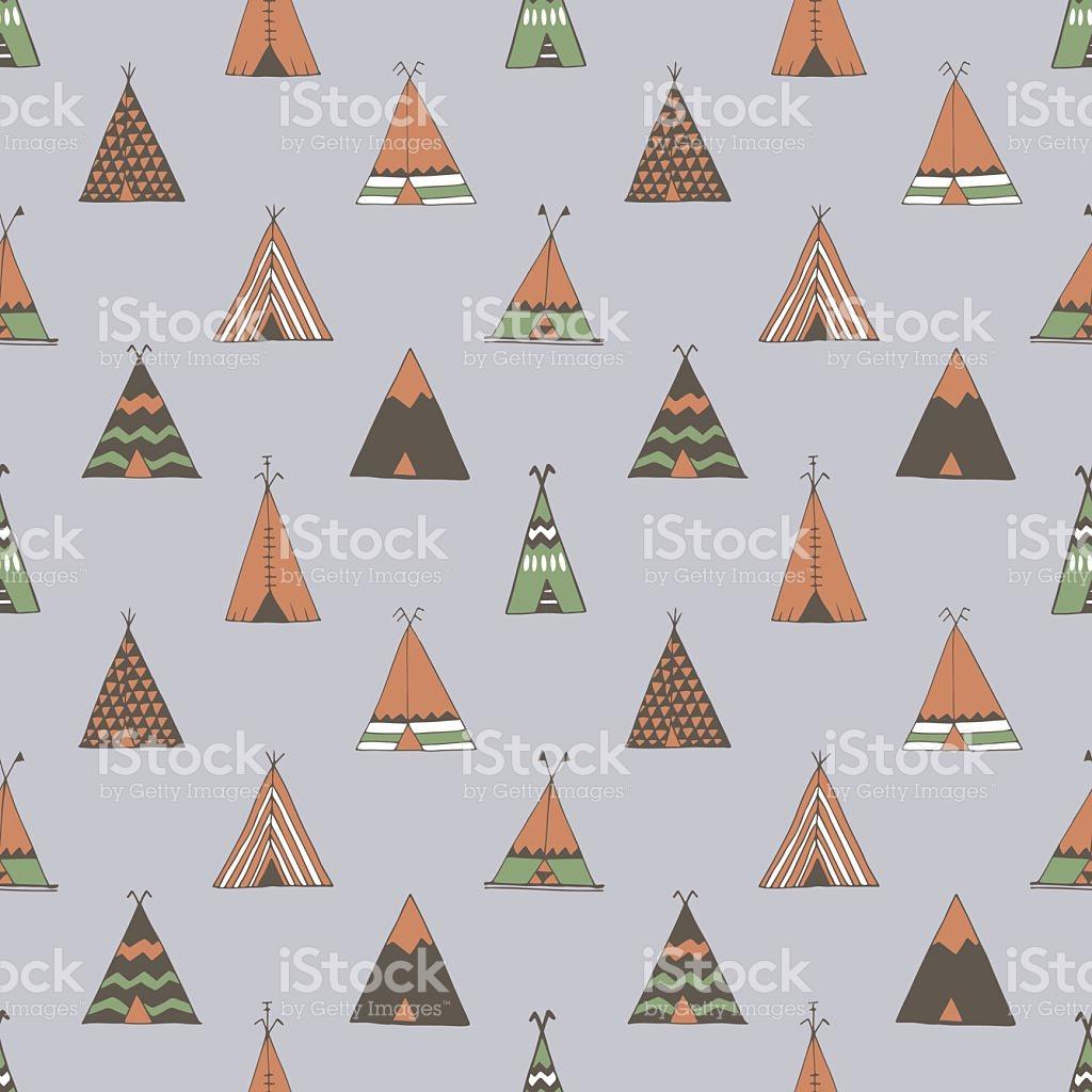 Teepee Native American Summer Tent stock vector art 511995372.