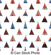 Teepee native american summer tent Vector Clipart Royalty Free. 38.