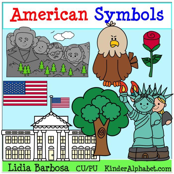 America Symbols Clipart.