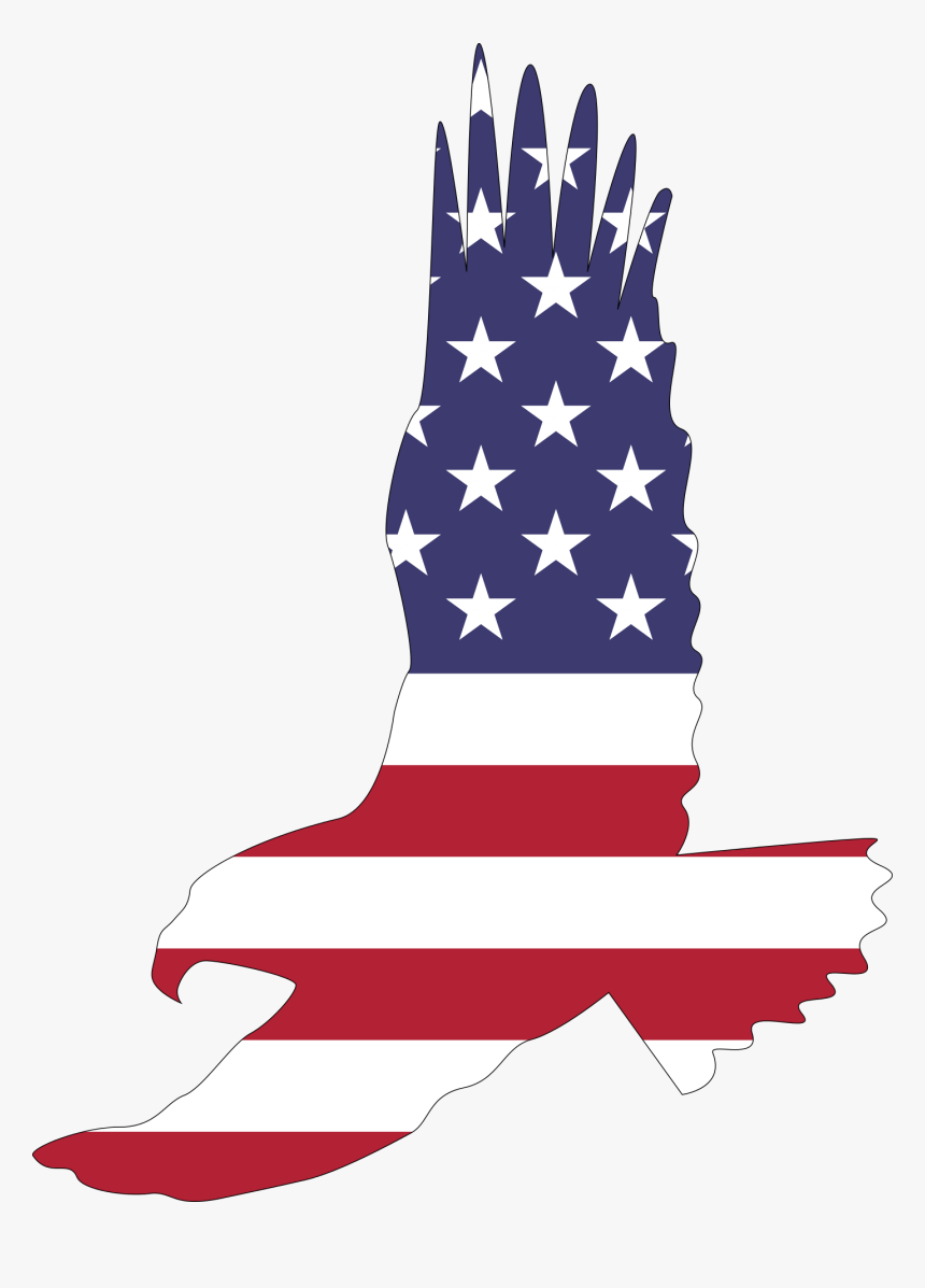 America, Animal, Bald Eagle, Bird, Flag, Flying, Symbol.