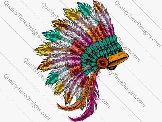 BOHO Native American Clipart Pack Dream Catcher Clipart Head.