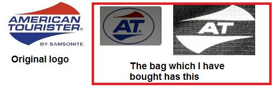 aruls scribblings: Duplicate American Tourister Bags: Worst.