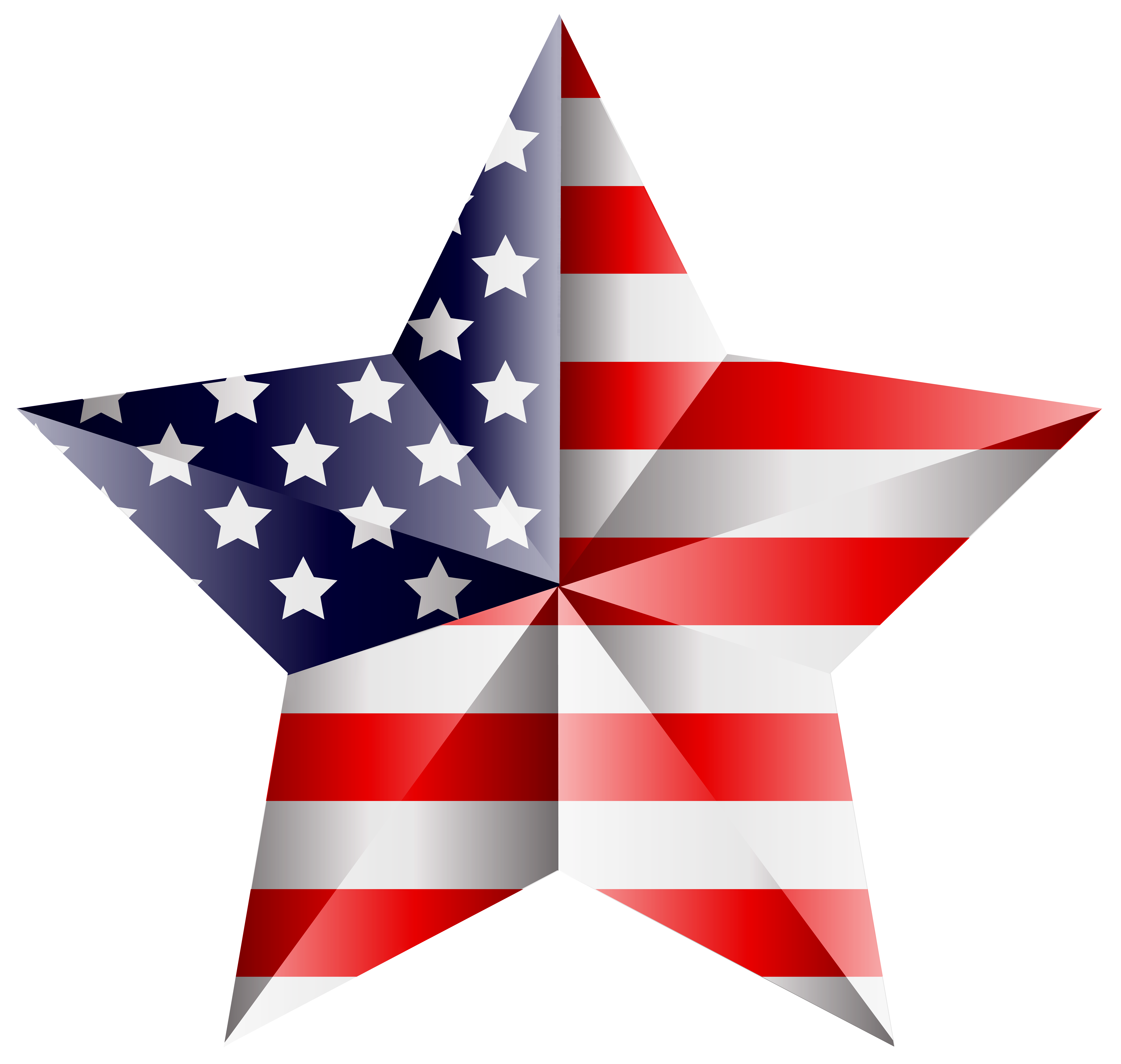 American Star Transparent PNG Clip Art Image.