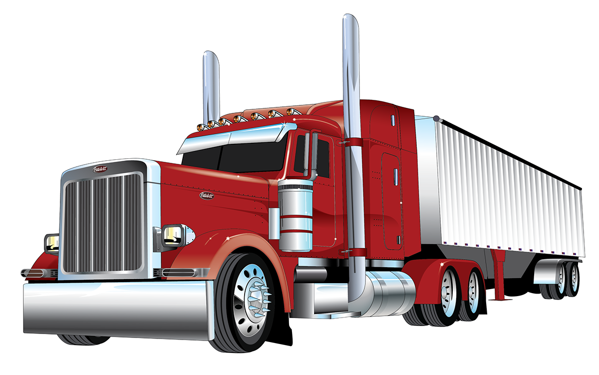 American Truck Simulator Peterbilt 379 Car Mover.