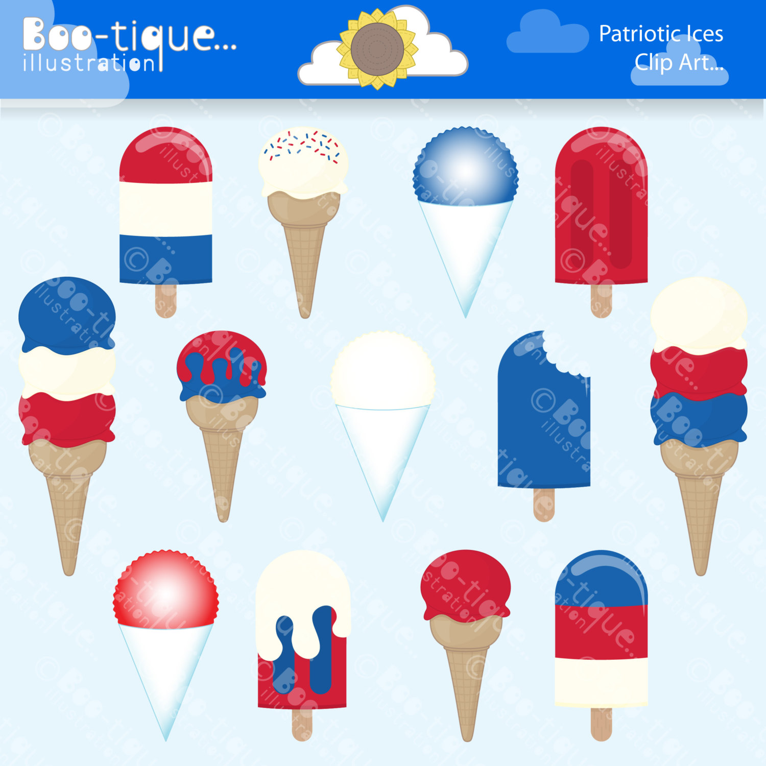 204 July 4th free clipart.