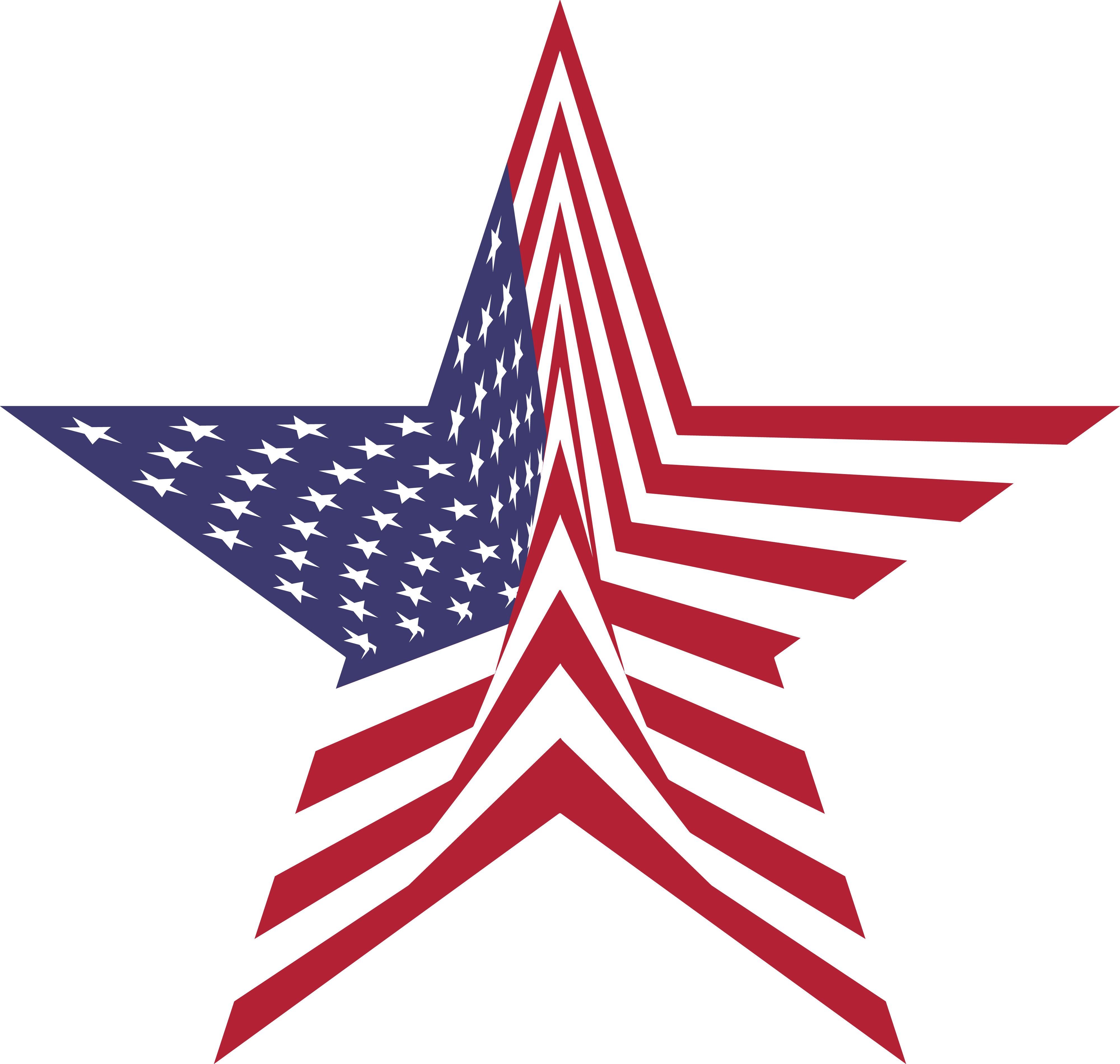 American Flag Star Clipart.