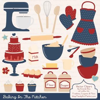 In The Kitchen Baking Clipart & Vectors in Americana.