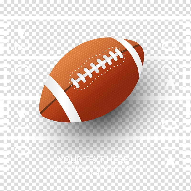 Orange football illustration, NFL Super Bowl American.