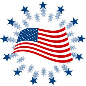 Free American Flag Clip Art.