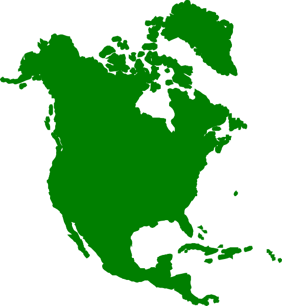 North America Map Clipart.