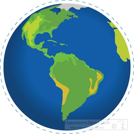 North America Globe Clipart.