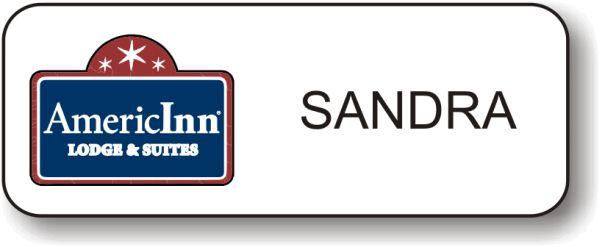 AmericInn Logo B White Badge.