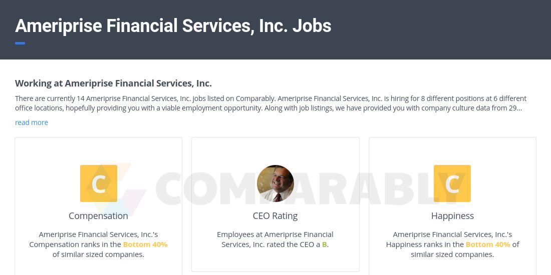 Ameriprise Financial Services, Inc. Jobs.